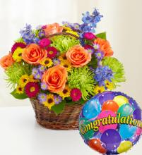 Beautiful Basket to Say Congratulations